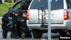 Канада полицейлері арнайы операция кезінде. Монктон, 4 маусым 2014 жыл. (Көрнекі сурет)