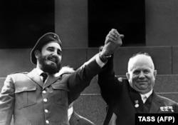Фидель Кастро с Никитой Хрущевым