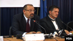 Dino Asanaj (left) was director of the board of the Kosovo Privatization Agency