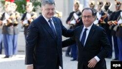 Petro Poroşenko ve François Hollande