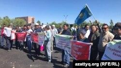 Санционированный митинг в Нур-Султане. 30 июня 2019 года.