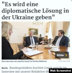 Joachim Gauck intervievat de Rheinische Post