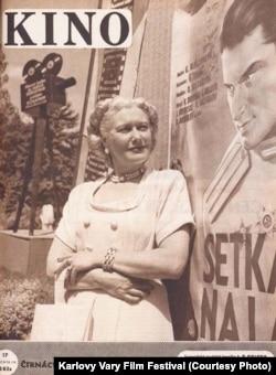 Любовь Орлова на обложке чехословацкого киножурнала, 1949