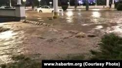 Последствия проливных дождей в Ашхабаде, май, 2018