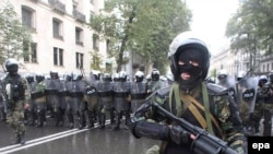Riot police in Tbilisi a year ago -- will they be used again?