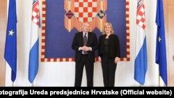 Kolinda Grabar Kitarović i Nicholas Dean, foto Ureda predsjednice Hrvatske