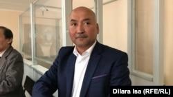 Ерлан Балтабай, председатель независимой профсоюзной организации «Достойный труд», на слушании в суде по его делу. Шымкент, 16 апреля 2019 года.