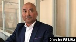 Председатель независимой профсоюзной организации «Достойный труд» Ерлан Балтабай в суде. Шымкент, апрель 2019 года.