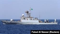 SAUDI ARABIA - A Saudi warship is seen during ÒGulf Shield 1Ó exercise by members of Royal Saudi Navy, east of Saudi Arabia, October 9, 2016