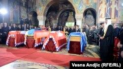 Карагеоргиевич король әулетінің төрт өкілін жерлеу рәсімі. Сербия, Опленац, 26 мамыр 2013 жыл.