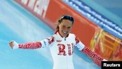 Ольга Граф на Олимпиаде в Сочи, 21 февраля 2014 года.