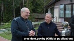 Аляксандар Лукашэнка і Шаўкат Мірзіёеў