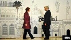 كاثرين أشتون وسعيد جليلي في مواجهة إستضافتها بغداد