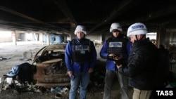 Наблюдатели мониторинговой миссии ОБСЕ