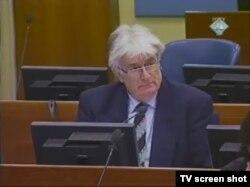 Radovan Karadžić u sudnici, 26. siječnja 2012.