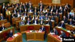 Viktor Orban u mađarskom parlamentu