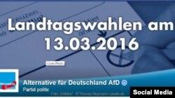 """Партия """"Альтернатива для Германии"""" - страничка в Фейсбуке"""