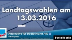 Alternative für Deutschland AfD, propagandă electorală pe Facebook