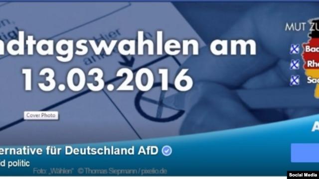"""Предвыборный плакат Партии """"Альтернатива для Германии"""""""