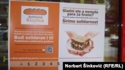 "Poster akcije ""Solidarna klopica"""