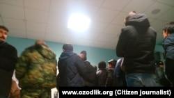 Узбекские граждане в РФ, архивное фото.