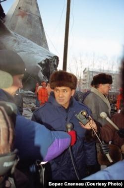 Министр Российской Федерации по ЧС Сергей Шойгу на месте авиакатастрофы в Иркутске-2