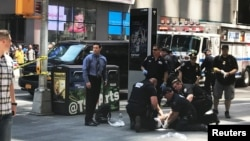 Місце події на Таймс-сквер, Нью-Йорк, США, 18 травня 2017 року