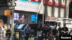 Место происшествия на Тайм Сквер, Нью-Йорк, США, 18 мая 2017 года