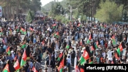 An election rally in the western Afghan city of Herat.