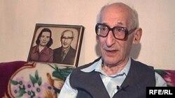 Мирон Брук, бывший узник нацистских концлагерей. Темиртау.