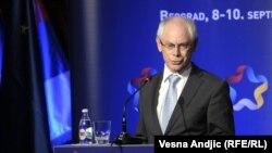 Претседателот на ЕУ, Херман Ван Ромпуј