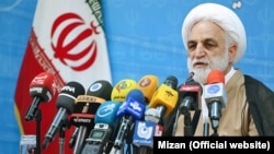 First deputy and the spokesman of Iran's judiciary, Gholamhossein Mohseni-Ejei. (File photo)