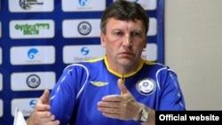 Қазақстан құрамасын жаттықтырған чехиялық маман Мирослав Беранек. Сурет Қазақстан футбол федерациясының ресми сайтынан алынды.