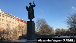 Памятник советскому маршалу Ивану Коневу в Праге.