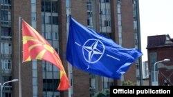 Zastava Makedonije i NATO-a