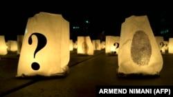 Sveće u Prištini na dan nestalih na Kosovu