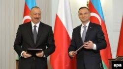 İ.Əliyev və A.Duda. Foto arxiv