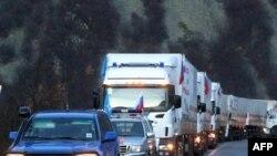 Konvoji i ndihmave ruse për serbët e veriut, i përcjellë nga EULEX-i.