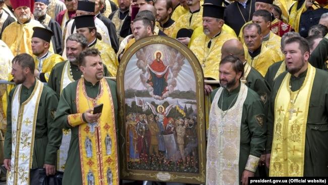 Військові капелани під час відзначення 1030-ліття Хрещення України-Руси. Київ, 28 липня 2018 року