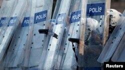 Forțele de poliție turce la Istanbul