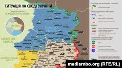 Ситуація в зоні бойових дій на Донбасі 9 травня – карта