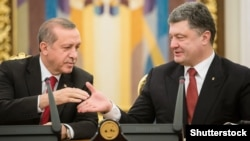 R.T.Erdoğan və Petro Poroshenko