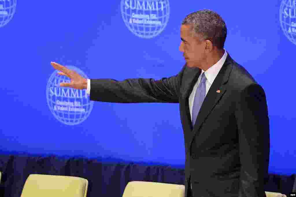 باراک اوباما، رئیسجمهوری ایالات متحده،گفت باید درک کنیم که آمریکا نمیتواند به تنهایی مشکلات جهان را حل کند. او در عین حال از همکاری با هر کشور از جمله ایران و روسیه، برای حل بحران سوریه سخن گفته است. رئیسجمهوری آمریکا در عین حال افزوده است که سر دادن شعار «مرگ بر آمریکا» برای ایران امنیت به بار نمیآورد.