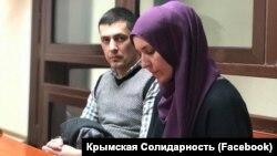 Амет Сулейманов и его адвокат Лиля Гемеджи