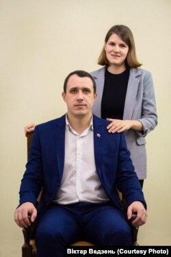 Вольга Севярынец з мужам Паўлам Севярынцам. Архіўнае фота.