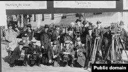 Групповой портрет членов Ассоциации фотокорреспондентов Белого дома. 1922. Из собрания Библиотеки Конгресса США