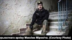 Максім Міровіч у Прыпяці ля Чарнобыльскай АЭС.