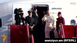 Հռոմի Պապը մեկնում է Հայաստանից, «Զվարթնոց» օդանավակայան, 26-ը հունիսի, 2016թ․