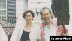 Марина и Игорь Ефимовы. Пародия на картину Гранта Вуда.