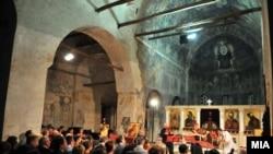 Внатрешноста на црквата Св. Софија во Охрид
